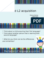 L1 and L2 acquisition