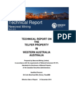 Technical Report on Telfer Property December 31 2013-Final