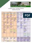 2016 Timetable