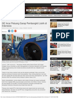 GE Incar Peluang Garap Pembangkit Listrik Di Indonesia