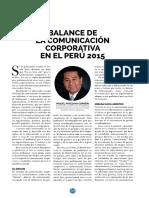 Balance de la Comunicacion Corporativa en el Peru 2015