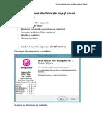Gestión de Bases de Datos en Mysql Desde Dreamweaver