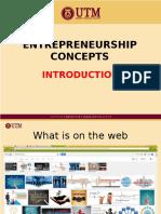 Entrepreneurship Concepts - Introduction