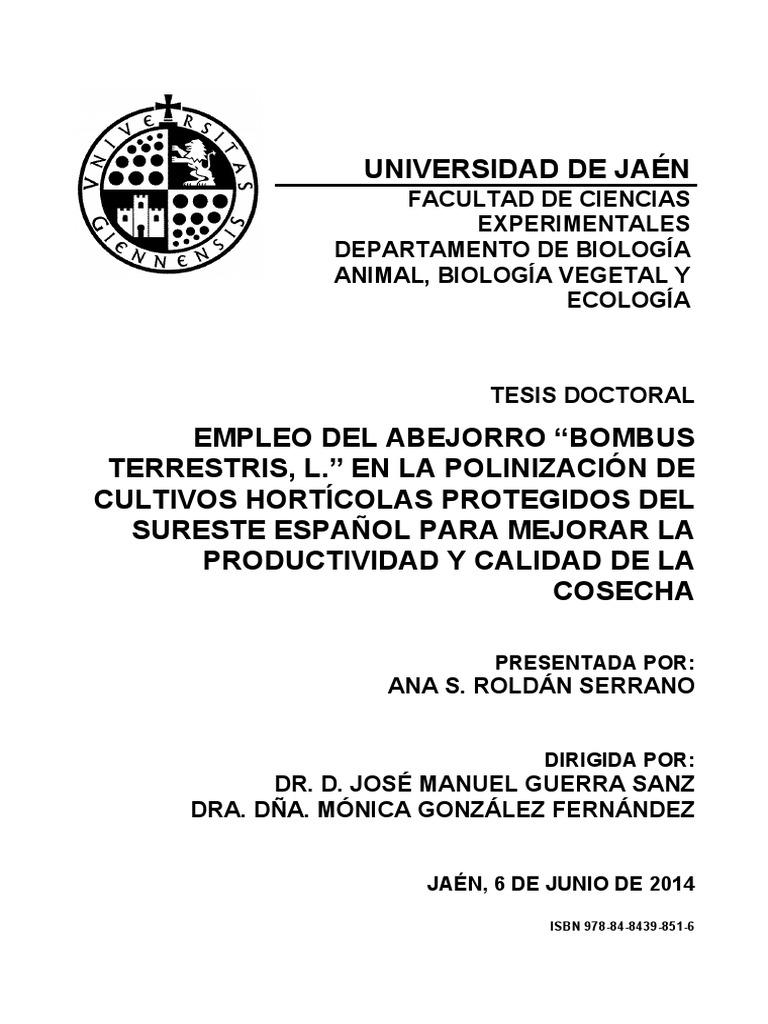 "Empleo Del Abejorro ""Bombus en Polinizacion"