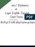 Glosario Inglés Jurídico