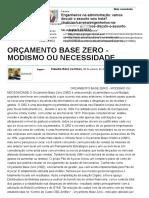 Orçamento Base Zero - Modismo Ou Necessidade - Artigos - Negócios - Administradores