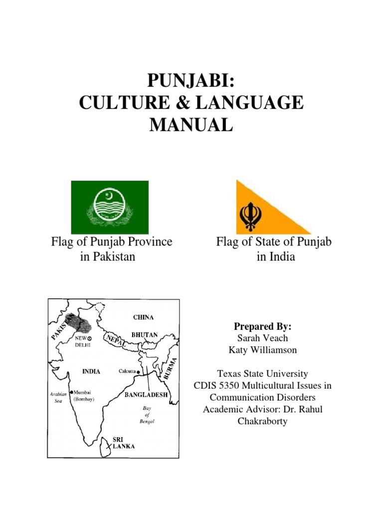 Punjabi: Culture & Language Manual: Flag of Punjab