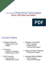 Wireless Networking Technologies