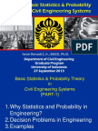 basic statistic and probability theory in civil engineering system