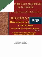 L - Diccionario de Sinonimos y Antonimos by Federico Carlos Sainz de Robles