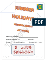 Summer Holidays Reinforcement Activities (3rd) - La Milagrosa School