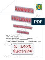 Summer Holidays Reinforcement Activities (1st) - La Milagrosa School