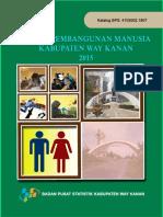 Indeks Pembangunan Manusia Kabupaten Way Kanan 2015