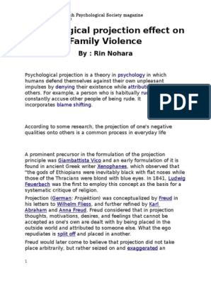 Psychological projection effect on Family Violence