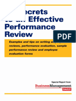 Effective Performance Review of Employees