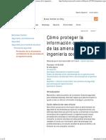 Protección de La Información Confidencial de Las Amenazas de La Ingeniería Social