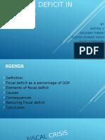 Fiscal Deficit in India