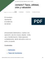 ¿Qué Es Inventario_ Tipos, Utilidad, Contabilización y Valuación