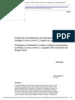 Evaluación de Tratamientos Para Disminuir Cadmio en Lechuga (Lactuca Sativa L
