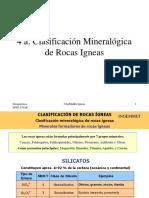 Geoquimica Clasificación mineralogica rocas  Igneas