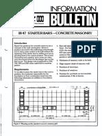 IB47 Masonry Starter Bars