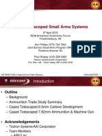 Cased Telescoped Small Arms Systems