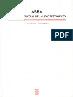 ABBA El Mensaje Central Del NT Jeremias Joachim