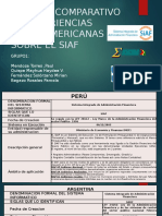 Analisis Comparativo de Experiencias Latinoamericans Sobre El Siaf