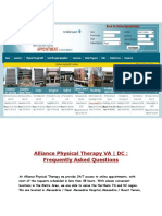 Alliance Physical Therapy VA|DC |Frequently Asked Questions