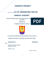 Maruti bba project for marketing