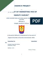 Maruti bba project for marketing