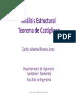 Análisis Estructural Teorema de Castigliano Carlos A. Riveros Jerez.pdf