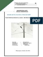 Proyecto de Electrificacion - Asoc Recreacion Costa Azul