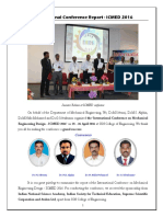ICMED 2016 Report, SSN College of Engineering, Chennai