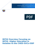 MITHI Overview Focusing on MITHI – Higher Education in Relation to the CHED SUCs ISSP