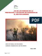 2009 ANÁLISIS DE LOS RIESGOS EN LA PREVENCIÓN Y EXTINCIÓN DE INCENDIOS EN EL SECTOR AGRARIO