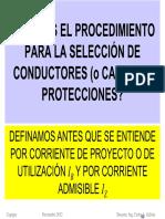 3_Procedimiento Para La Selección de Conductores o Cables y Sus Protecciones