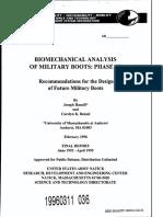 Biomechanical analisys of military boots
