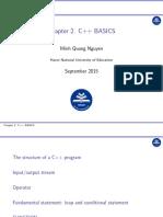 Chapter 2&3. C++ Basics