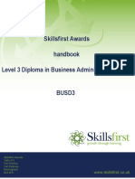 Level 3 Diploma in Business Administration QCF BUSD3