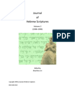 A Form Critical Rereading of Hosea Trad Razvan