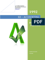1992 Accounting Paper Xii