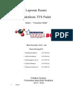 Laporan TFS Padat