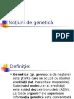 Noţiuni de Genetică