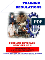 TR - Food and Beverage Services NC II.doc