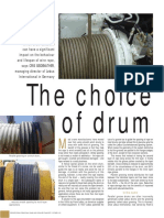 Grooved Drum Article
