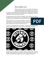 Historia Defensa Animal Cali