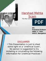 Ppt on Harshad Mehta Case