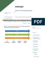 XRF Sample Preparation MethodsProcedure - Mineral ProcessingMetallurgy ResearchTesting