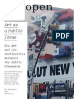 Open 14 Art as a Public Issue